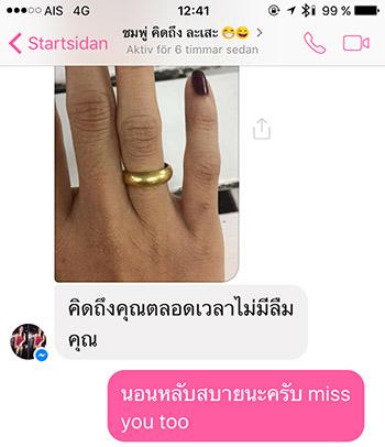 En förlovningsring av guld är ett bevis, eller åtminstone en stark symbol, för ett riktigt kärleksförhållande.
